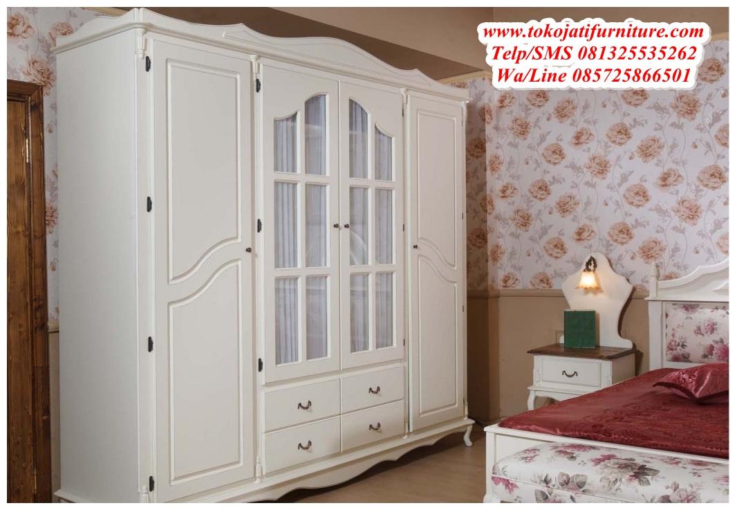 Lemari-Pakaian-4-Pintu-Duco-Putih Lemari Pakaian 4 Pintu Duco Putih