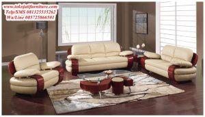 Sofa Tamu Bahan Kulit Mewah