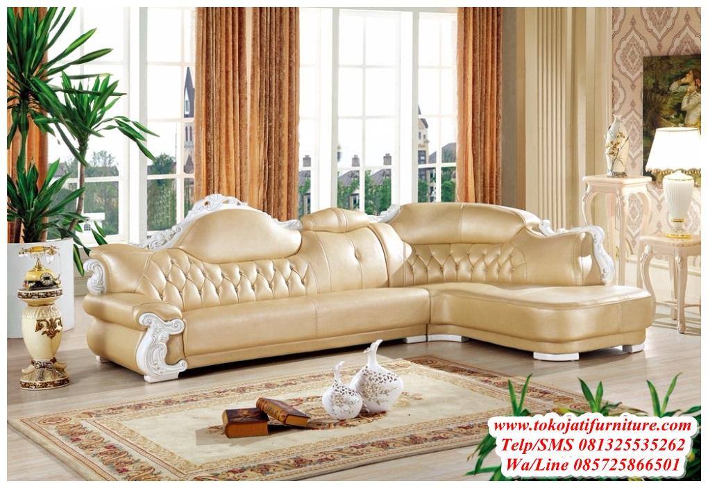sofa-tamu-sudut-ukiran-duco-putih sofa tamu sudut ukiran duco putih