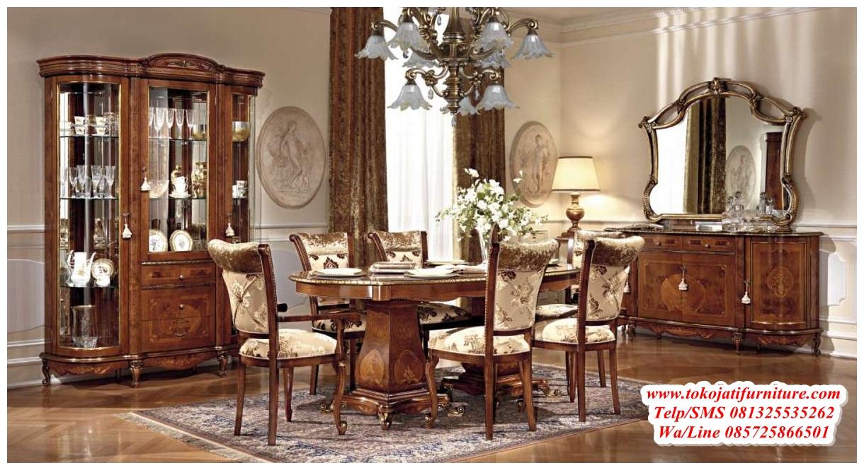 set-meja-makan-jati-citra-modern set meja makan jati citra modern