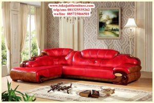 Sofa Tamu Sudut Jati Terbaru