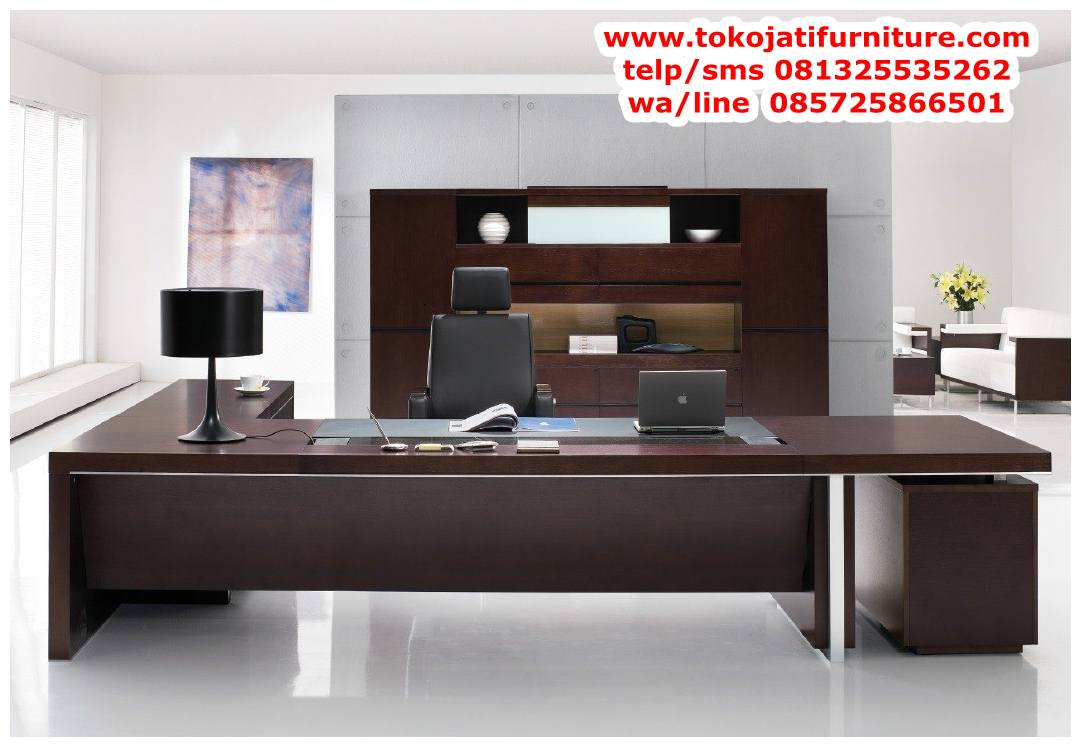 desain-meja-kantor-jati-minimalis-modern desain meja kantor jati minimalis modern