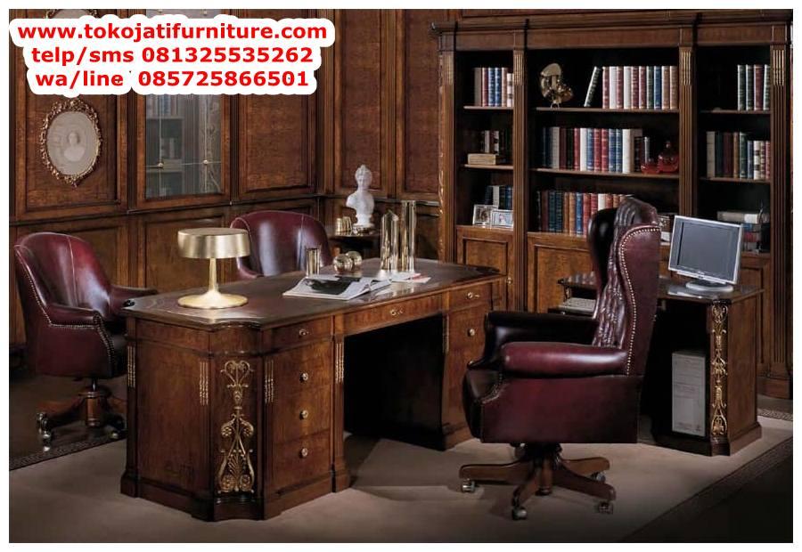 meja-kantor-jati-classic-direktur meja kantor jati classic direktur