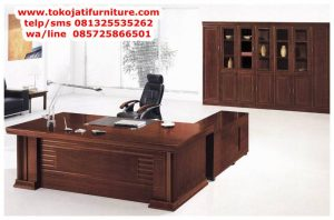 meja kantor jati desain el terbaru