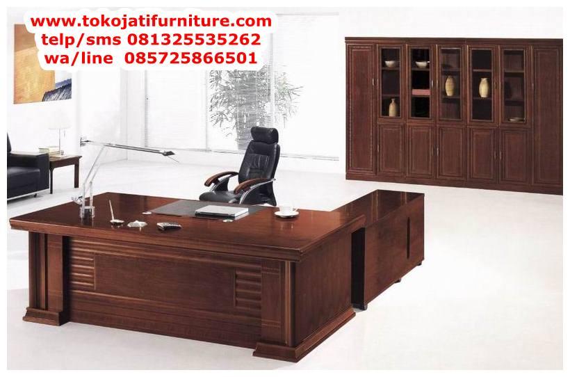 meja-kantor-jati-desain-el-terbaru meja kantor jati desain el terbaru