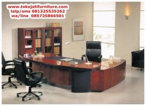 meja kantor jati executive pimpinan