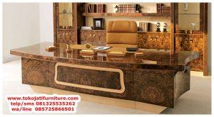 meja kantor jati luxury pimpinan mewah