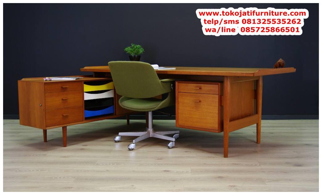 meja-kantor-jati-minimalis meja kantor jati minimalis