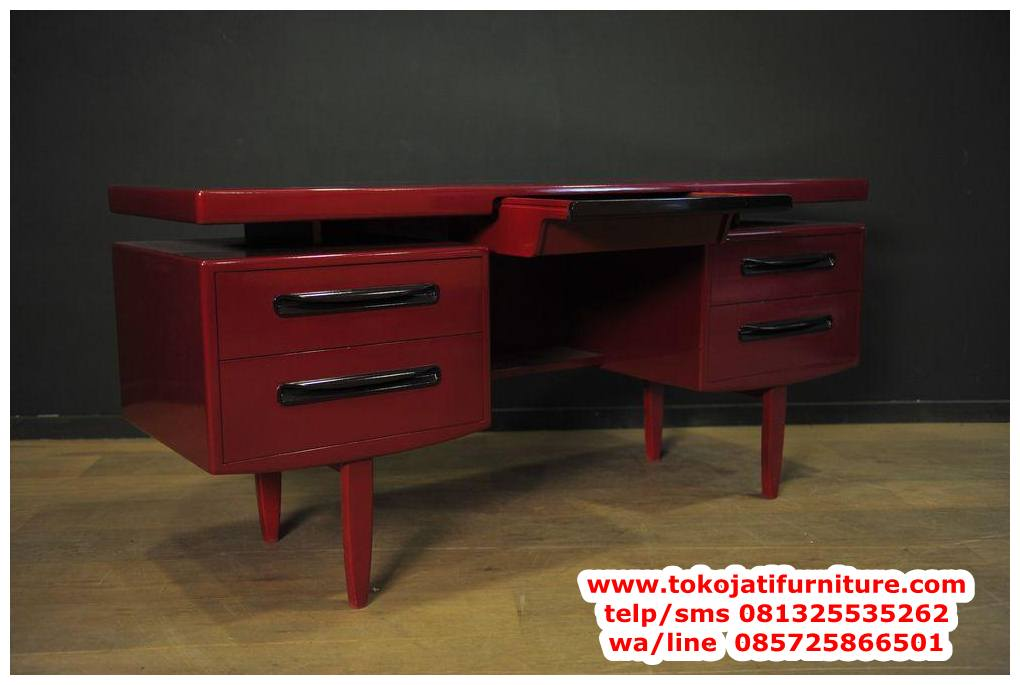 meja-kantor-jati-model-minimalis meja kantor jati model minimalis