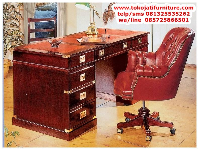 meja-kantor-jati-terbaru meja kantor jati terbaru