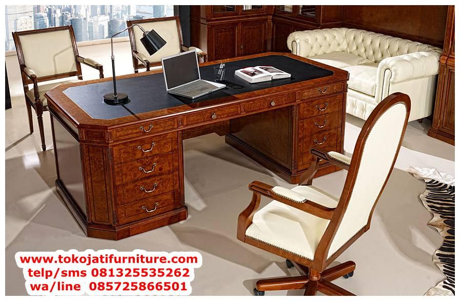 meja-kantor-klasik-jati-jepara meja kantor klasik jati jepara
