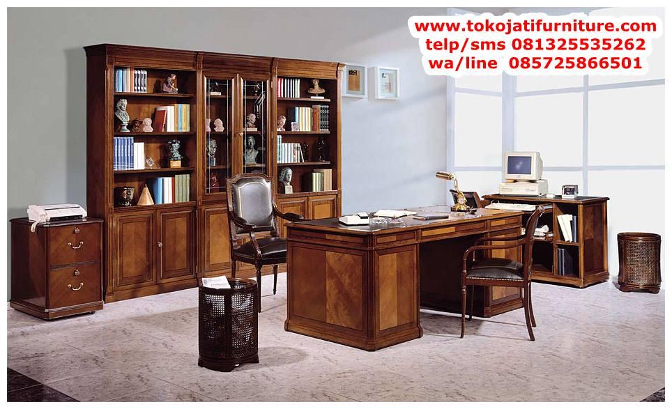 meja-kerja-jati-direktur-modern meja kerja jati direktur modern