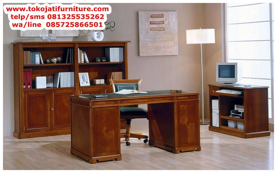 meja-kerja-perkantoran-jati-terbaru meja kerja perkantoran jati terbaru