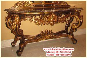meja rias console baroque