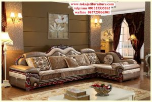sofa sudut jati luxury antique