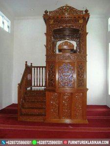 mimbar jati masjid ukiran klasik