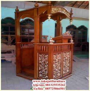 mimbar masjid jati ukiran produk jepara