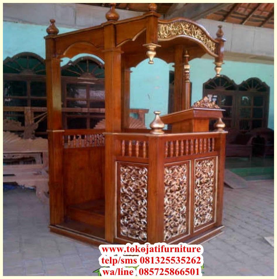 mimbar-masjid-jati-ukiran-produk-jepara mimbar masjid jati ukiran produk jepara