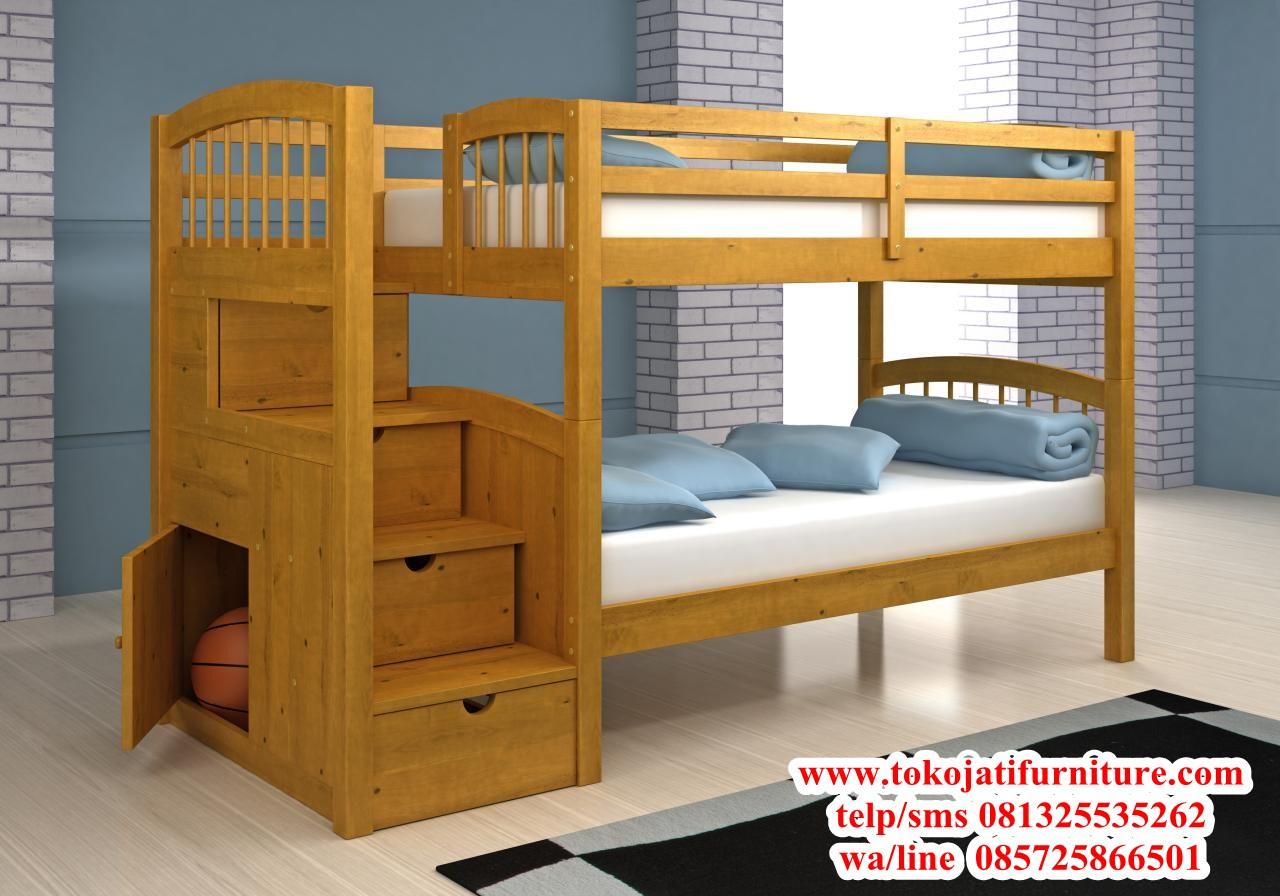 ranjang-tidur-tingkat-anak-jati ranjang tidur tingkat anak jati