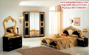 set tempat tidur black gold mewah
