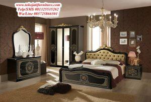 set tempat tidur jati italy modern