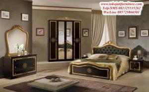 set tempat tidur jati luxury