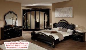 set tempat tidur jati ukir modern