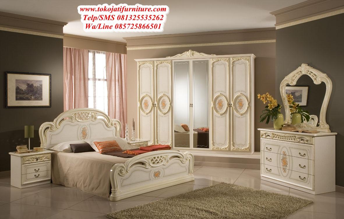 set-tempat-tidur-ukiran-classic-duco set tempat tidur ukiran classic duco