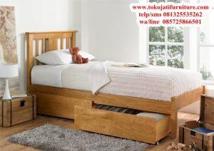 tempat tidur anak jati mewah