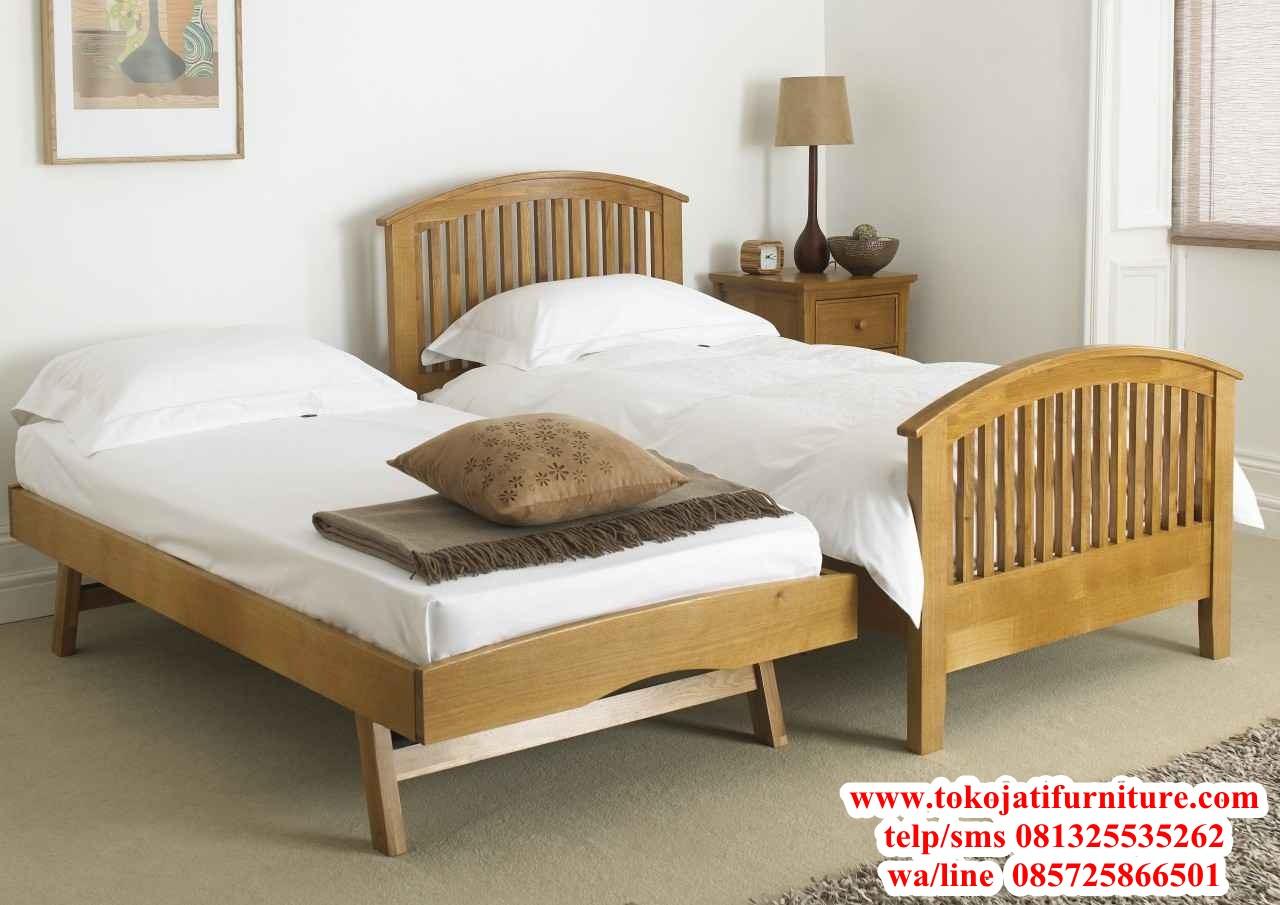 tempat-tidur-anak-jati-minimalis tempat tidur anak jati minimalis