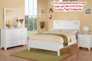 tempat tidur anak minimalis duco putih