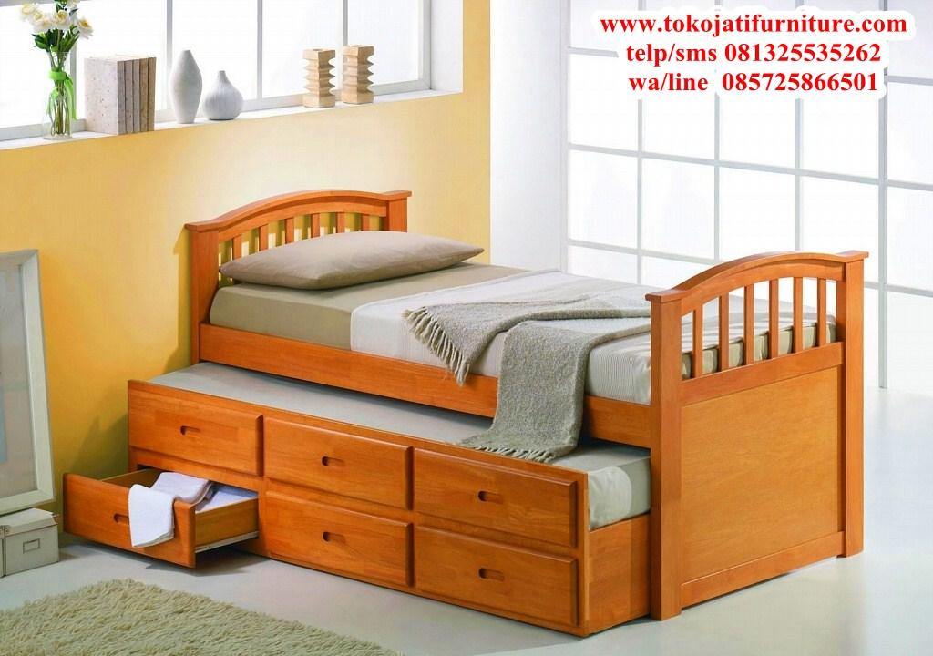tempat-tidur-jati-anak-sorong tempat tidur jati anak sorong