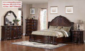 tempat tidur jati desain classic