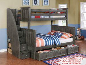 tempat tidur tingkat anak anak klasik