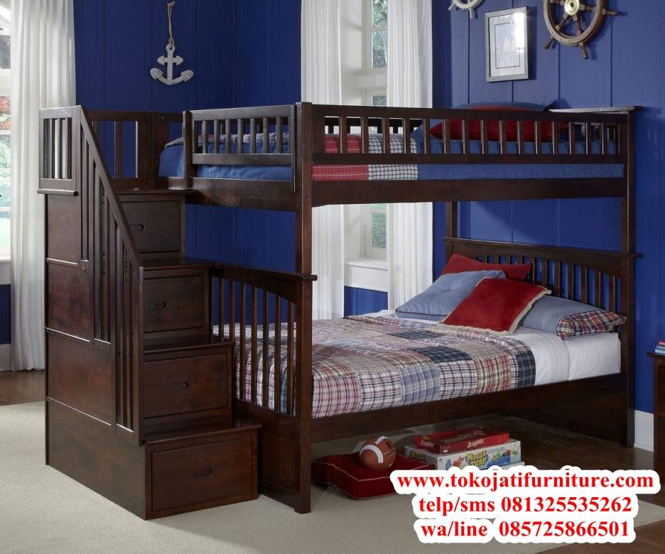 tempat-tidur-tingkat-jati-anak tempat tidur tingkat jati anak