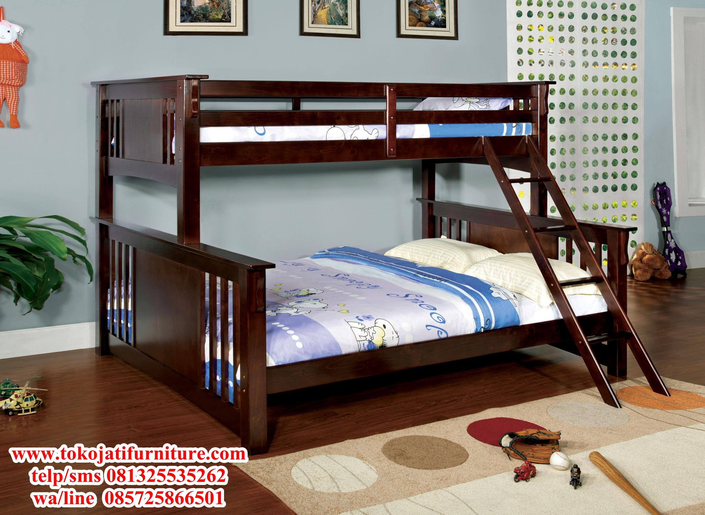 tempat-tidur-tingkat-jati-minimalis tempat tidur tingkat jati minimalis
