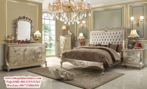 tempat tidur ukiran desain klasik