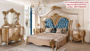 set tempat tidur ukiran gold modern