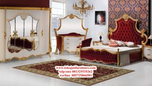 set tempat tidur raja ukir mewah