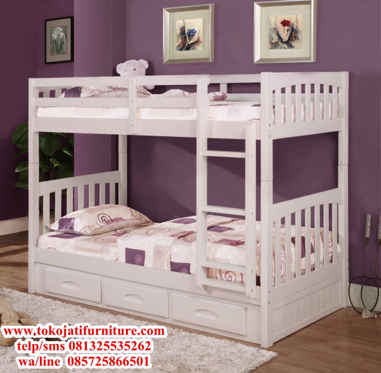 ranjang-tidur-tingkat-anak-duco-putih ranjang tidur tingkat anak duco putih