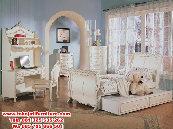 209b454a425bbb269feb7c01c05e9e60-white-bedroom-set-girls-bedroom-sets set tempat tidur anak duco bagong modern