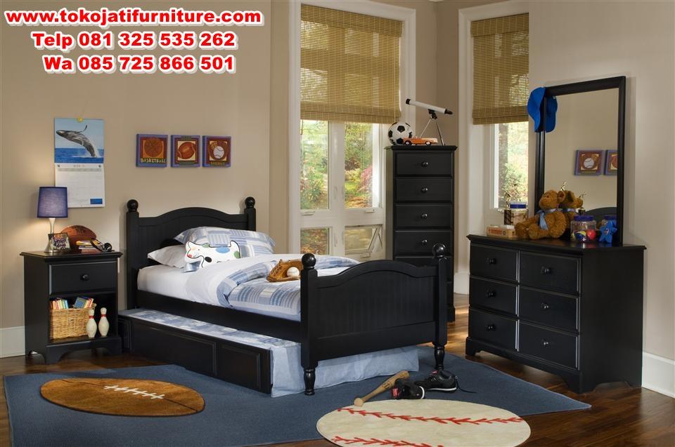Twin-Size-Bedroom-Sets set kamar tidur jati anak modern
