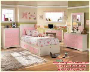 set tempat tidur anak modern mewah