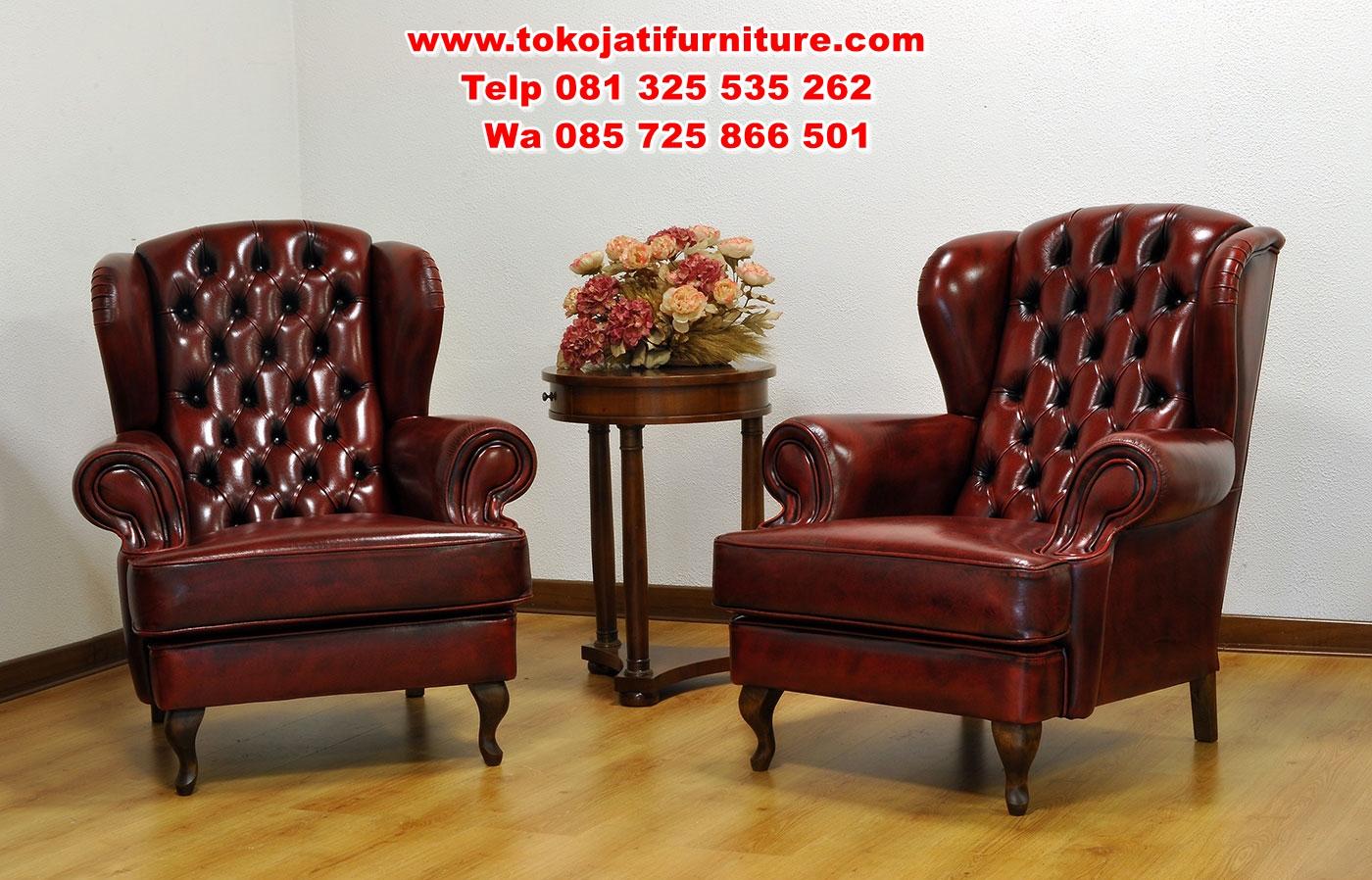 Poltrone-Bergere-con-capitonne-in-pelle-invecchiata-rossa kursi teras sofa minimalis modern