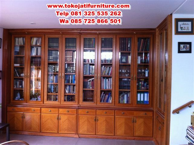 lemari-bufet-jati-buku-minimalis lemari bufet jati buku minimalis