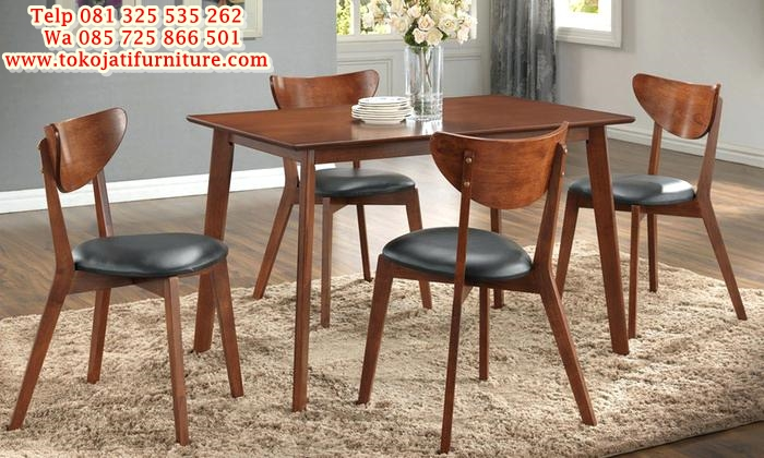 35-off-on-scandinavian-dining-set-5-piece-groupon-goods-scandinavian-dining-chairs-morocco-dark-walnut-scandinavian-inspired-dining-set-5-piece-scandinavian-dining-furniture-melbourne set kursi makan jati kafe minimalis