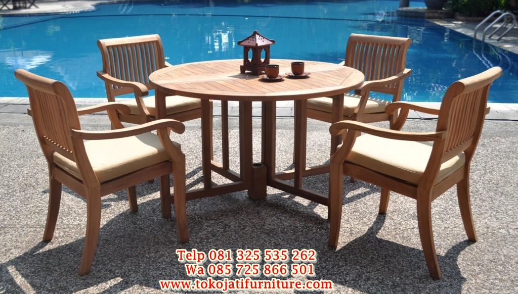 5-piece-luxurious-grade-a-teak-dining-set-48quot-round-round-outdoor-dining-table-set-l-8d29d9d0650f48a5 1 meja makan kafe taman