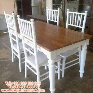 meja makan minimalis kafe restoran duco