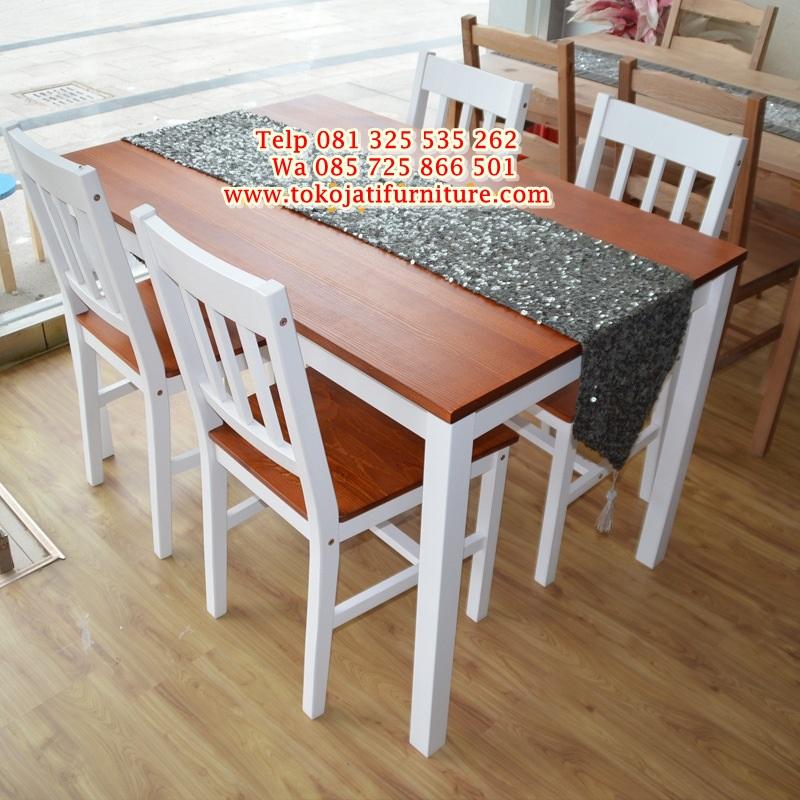 Set-meja-makan-minimalis-untuk-kafe meja makan kafe minimalis duco modern