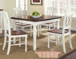 meja makan duco putih kafe